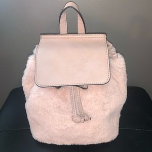 Never used Fuzzy Charming Charlie Backpack Purse